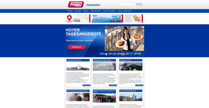 Hoyer Tankstellen Website